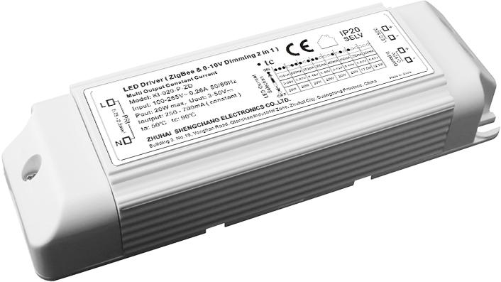 Bộ Nguồn có Độ Mờ 10W-20W ZigBee / 0-10V CC