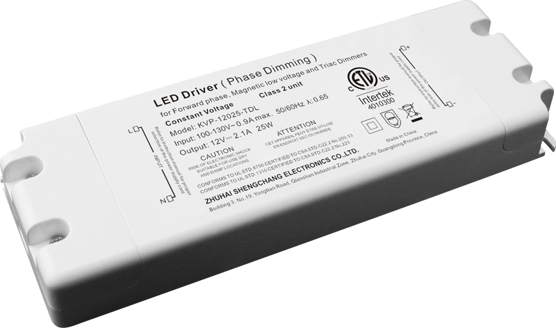 120VAC KVP series 25W constant voltage triac dimmable driver