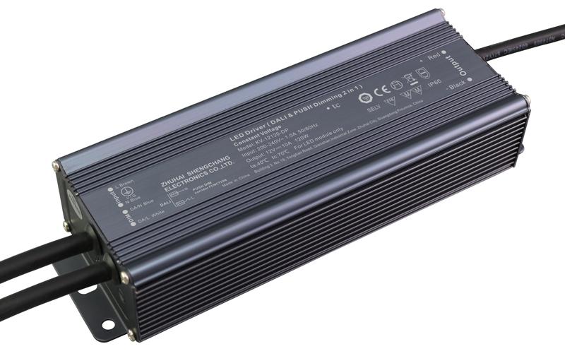 Bộ Nguồn LED Mờ Nhẹ DALI & PUSH-DIM 120W Điện Ap Không Đổi
