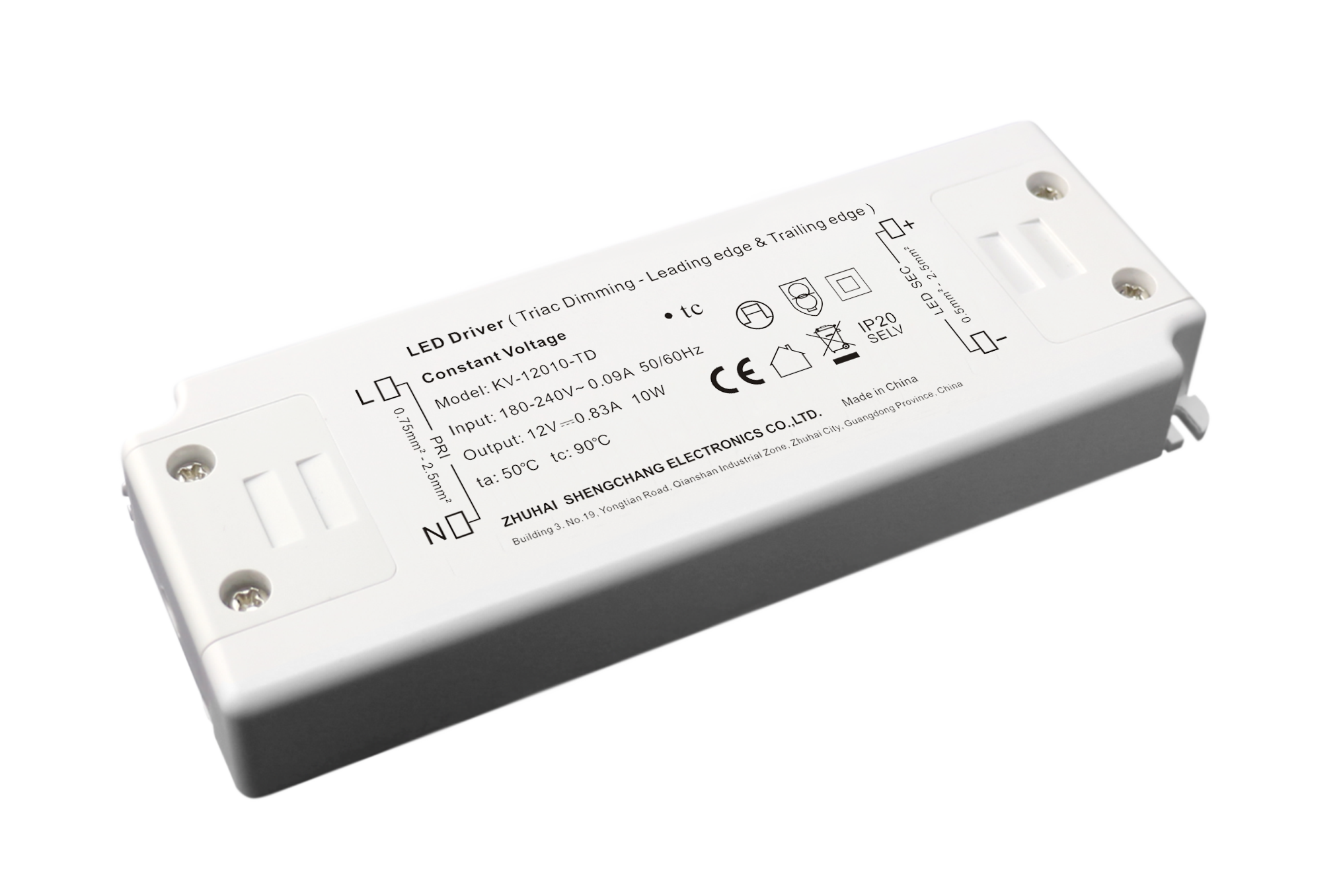 220VAC KV series 10W constant voltage triac LED driver