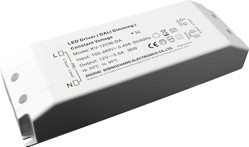 36W DALI constant voltage dimmable LED driver