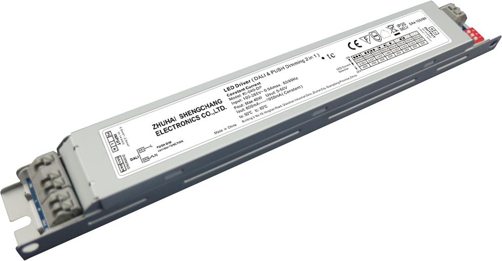 Bộ nguồn LED Sáng mờ DALI & Push-Dim 40W điện áp không đổi