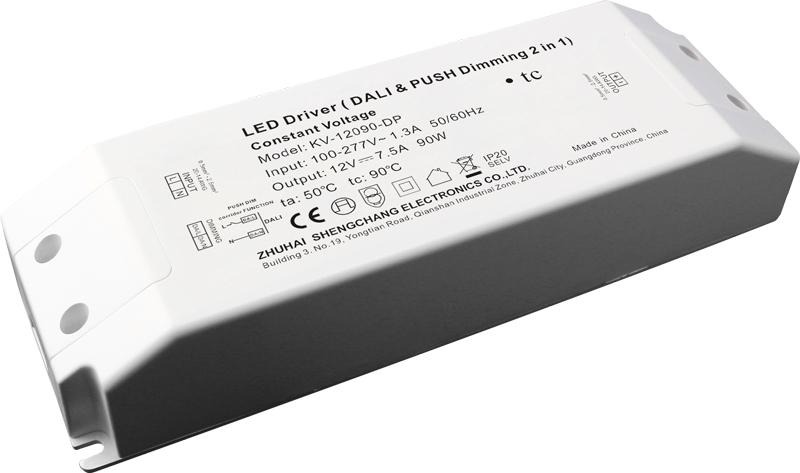 Bộ Nguồn LED Mờ Nhẹ DALI & PUSH-DIM 90W Điện Ap Không Đổi