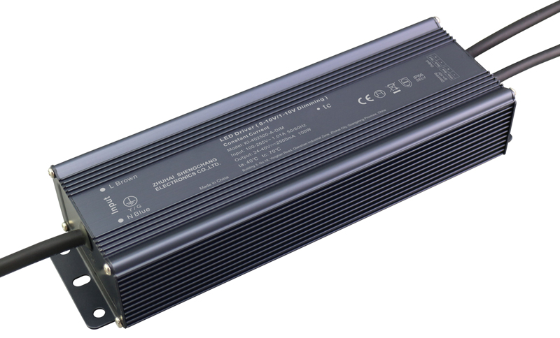 100W IP67 0/1-10V constant current dimmable LED driver