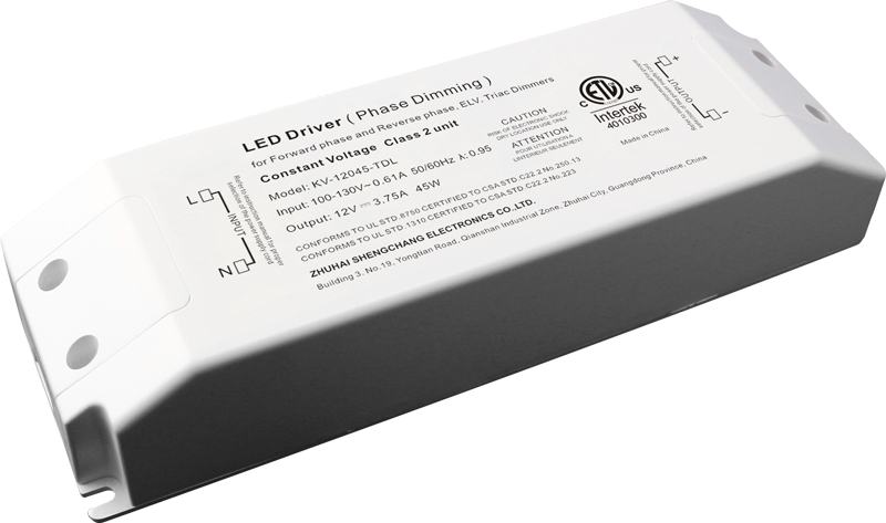 120VAC KV series 45W constant voltage triac LED driver