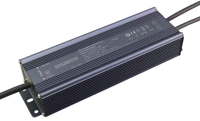 120W 0/1-10V constant voltage dimmable LED driver