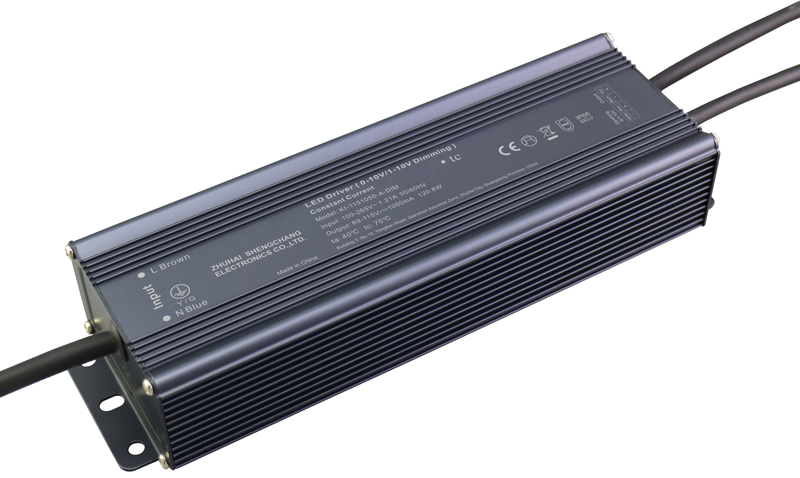 120W IP66 0/1-10V constant current dimmable LED driver