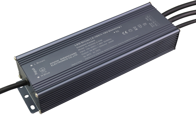 200W 0/1-10V constant current dimmable LED driver