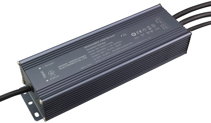 200W 0/1-10V constant voltage dimmable LED driver
