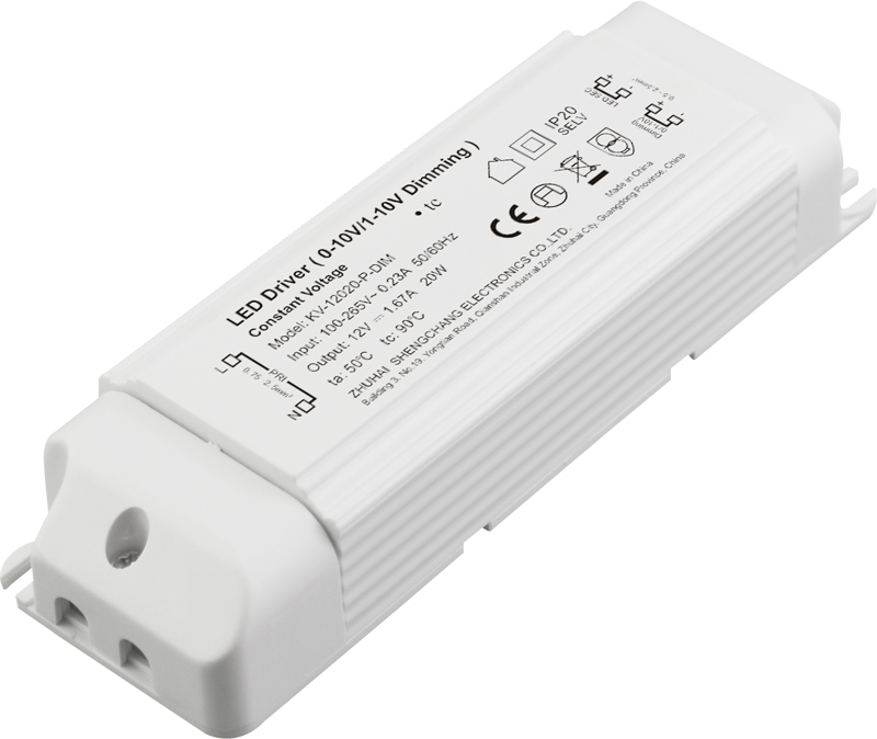 20W 0/1-10V constant voltage dimmable LED driver