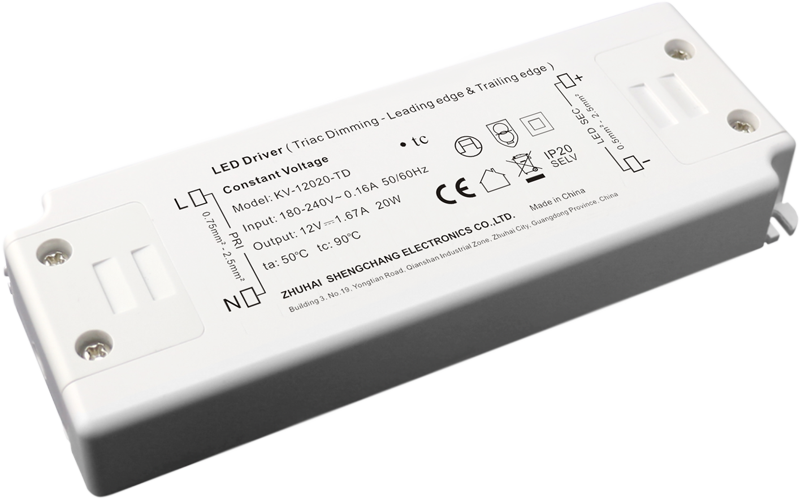 220VAC KV series 20W constant voltage triac LED driver