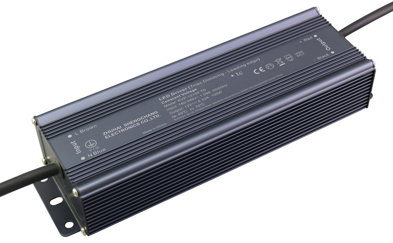 220VAC KVP series 100W constant voltage triac LED driver