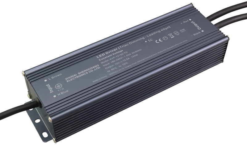 220VAC KVP series 150W constant voltage triac LED driver