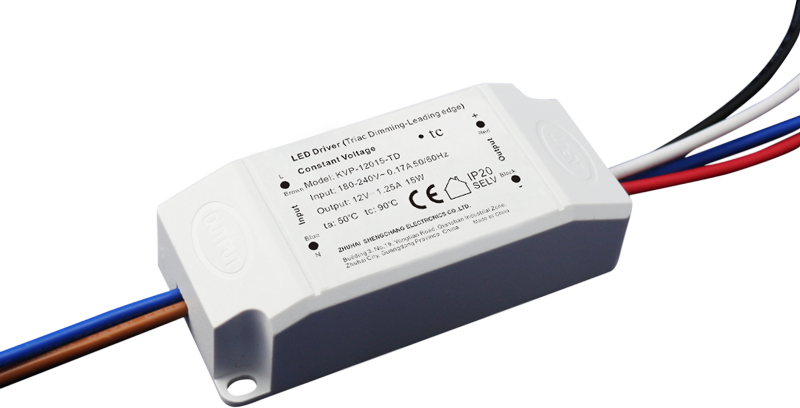 220VAC KVP series 15W constant voltage triac dimmable driver