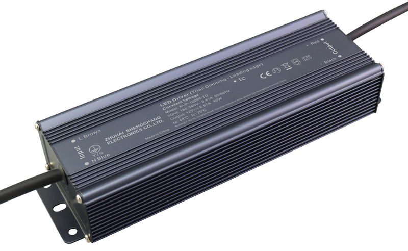 220VAC KVP series 80W constant voltage triac dimmable driver