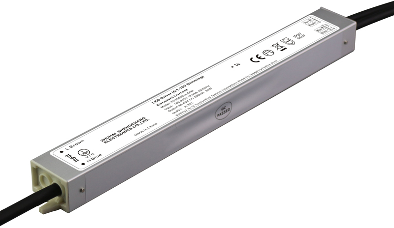 30W IP67 0/1-10V constant current dimmable LED driver