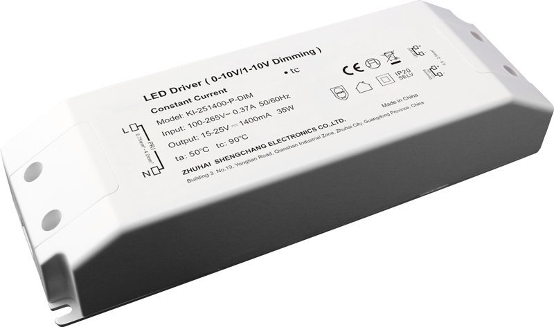 36W 0/1-10V constant current dimmable LED driver