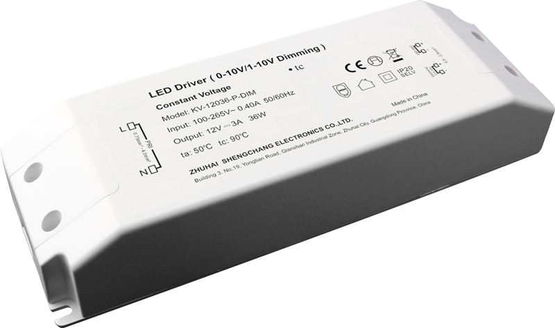 36W 0/1-10V constant voltage dimmable LED driver