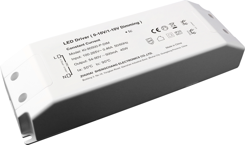 45W 0/1-10V constant current dimmable LED driver