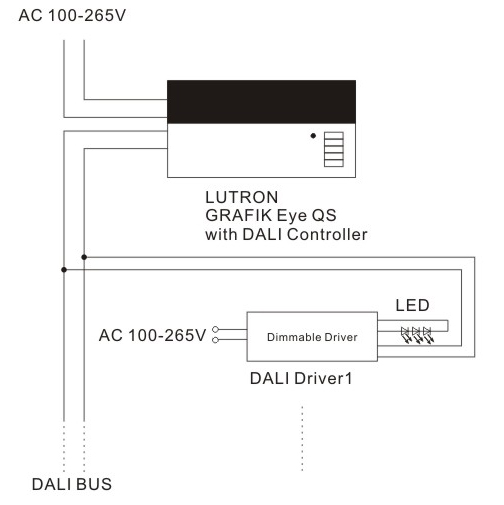 45w Dali Constant Current Dimmable Led Driver Scpower