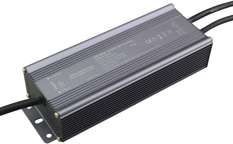 60W IP67 0/1-10V constant current dimmable LED driver