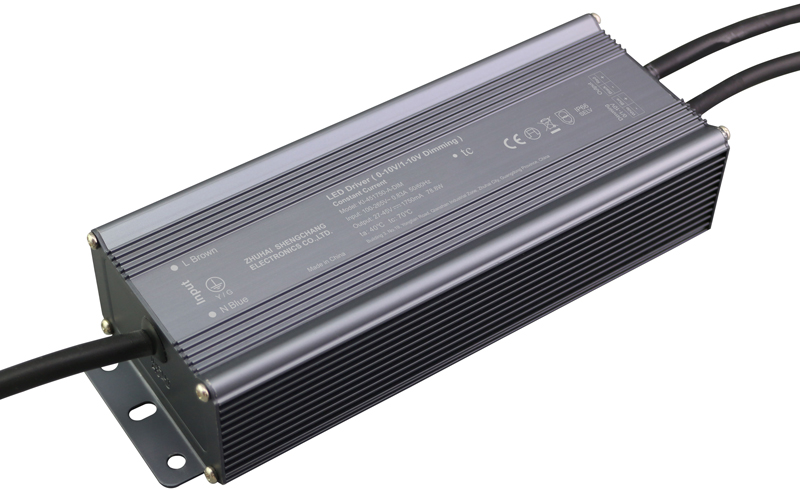 80W IP67 0/1-10V constant current dimmable LED driver